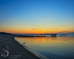 Morning Light by the Walnut Beach Pier (Singing With Light) Tags: summer photography pier sony kitlens ct 18th september milford walnutbeach 2015 lastdaysofsummer mirrorless sony16mm28 singingwithlight singingwithlightphotography alpha6000 sonya6000