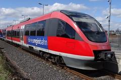 DB Trainset N 643 722 in the station of Alsdorf. (Franky De Witte - Ferroequinologist) Tags: de eisenbahn railway estrada chemin fer spoorwegen ferrocarril ferro ferrovia
