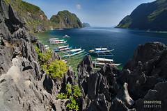 Island View (engrjpleo) Tags: travel sea seascape beach water rock landscape island coast seaside rocks outdoor philippines shore seashore elnido palawan waterscape matinloc bacuitbay