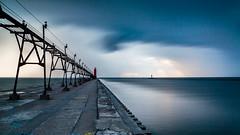 Grand Haven (randyr photography) Tags: longexposure storm haven west pier michigan grand lakemichigan puremichigan westmichiganphotographer leebigstopper