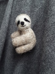 Sloth Brooch, Felted Sloth Animal, Lazy Sloth, Cute Sloth Pin, Handmade Sloth brooch, Needle felted Sloth, felt Sloth ornament, Sloth felt (NeedleFeltedGift) Tags: cute animal animals felted woodland miniature pin handmade brooch jewelry felties sloth needlefelting etsy needlecraft broach jewellry pinback needlefelt giftideas needlefelted feltedwool lazyanimal giftables animalwool animalbrooch etsybrooch etsyanimal animallazy feltjewelrywoolenaccessoryanimalbrooch jewelrybroochesanimal slothbrooch slothpin etsysloth slothfelt