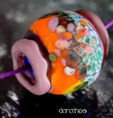 Dorothea (Laura Blanck Openstudio) Tags: blue etched orange abstract green glass lines coral giant necklace beads big rocks colorful aqua european glow purple handmade eggplant turquoise stripes violet lavender plum funky jewelry charm holes odd pebble lilac earthy single mango huge periwinkle mauve opaque organic transparent wearable murano lampwork multicolor raku pendant matte whimsical nugget frit openstudio asymmetric ocher focal openstudiobeads