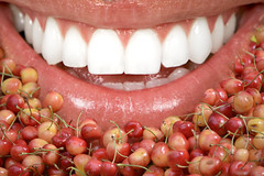 A Cherry Situation (swong95765) Tags: mouth cherry cherries teeth lips size eat taste injest