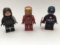 Captain America Civil War (bossbricks) Tags: man war iron lego captain hero custom villain bucky civl whosesideareyouon amerca cacw