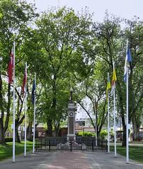 Vernon Cenotaph (tonywild241) Tags: park street canada memorial britishcolumbia flag greenery flagpole cenotaph warmemorial vernonbc okanaganbc