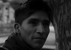 (lozmcmanus) Tags: street people blackandwhite man peru canon dark gloomy lima pentax foreboding cusco poor young