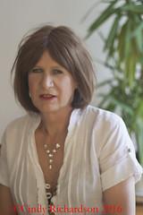 A lazy sunday in April (IMG_1965) (cindy richardson) Tags: white blouse redhead tgirl transgender cotton crossdress