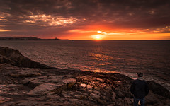 As time goes by (Eduardo Regueiro) Tags: light sunset espaa spain corua rocks monumento unesco galicia herculestower galiciacalidade