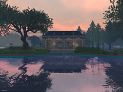 Misty April (Sparkie Cyberstar) Tags: water pool reflections secondlife untouched windlight virtualworld angelmanor