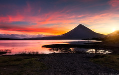 paysage_arenal_2 (bzhphotography) Tags: costa sun sunrise volcano rica arenal volcan