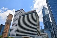 Skyscrapers (jernejb) Tags: city skyline skyscraper hongkong central bankofchinatower bankofamericatower fareastfinancecentre d5200 hutchinsonhouse