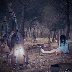229/365 (Sariixa) Tags: blue trees portrait music woman selfportrait art me thread girl azul forest photomanipulation photoshop myself photography photo mujer rboles foto chica dress arte autoportrait sleep yo autoretrato violin bosque instrument hilo 365 connected autorretrato dormir msica photoart vestido fotomontaje reborn selfie fotografa artphoto fotomanipulacin instrumento fotoarte renacer violn conectado fotomanipulacion sarixa