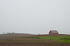 Barn on the Hill (ramseybuckeye) Tags: life county ohio red sky green art barn rural day pentax country hill gray rainy perry