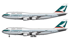 Cathay Pacific 747-400 Illustration (CATHAY DRAGON) Tags: illustration airplane drawing aircraft aviation jet boeing sideview airliner 747400 cathaypacific widebody airtransportation commercialairliner commercialaircraft norebbocom