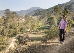 Uma Silwal, 18 lives in a village called Godawari, high about the city in the Kathmandu Valley (Handicap International UK) Tags: nepal earthquake uma kathmandu survivors disability silwal