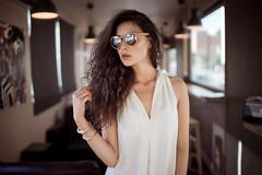 Savannah Shades (Oooah!) Tags: portrait sexy beautiful beauty sunglasses fashion model downtown texas gorgeous elpaso curlyhair longbrownhair modelingpose sonya7 bower35mmf14 ilce7 savannahcornejo