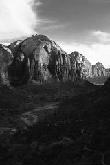 Valley of Patriarchs (oysters_mate) Tags: blackandwhite nature monochrome landscape fujifilm zion nationalparks x100t