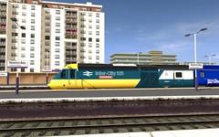 TANE - 43002 at Newton Bay (skodatrainz) Tags: br diesel trainz tgs hst gwr tane mk3 bluegrey greatwesternrailway highspeedtrain class43 intercity125 brblue dynamiclines 43002 newtonbay duchydays