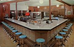 Coffee Shop, Buffalo Bill Memorial Museum, Lookout Mountain, Colorado (SwellMap) Tags: architecture vintage advertising restaurant design pc cafe 60s fifties postcard suburbia style diner kitsch retro truckstop nostalgia chrome americana 50s roadside cafeteria googie populuxe sixties babyboomer consumer coldwar snackbar eatery midcentury spaceage driveinrestaurant atomicage