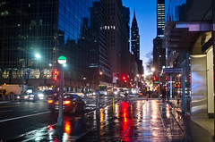 42 Street Morning Colors (Lojones13) Tags: morning urban newyork colors cool cityscape bluehour 42street