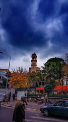 Saat Kulesi - Balkesir (bernamzrk1) Tags: blue sky cloud man adam tower clock clocktower saat mavi bulut gkyz kule balkesir saatkulesi