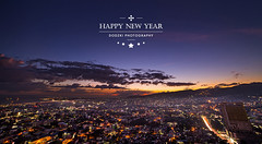 Happy New Year (Dodzki) Tags: longexposure sunset nikon bluehour d610 14mm digitalblending samyang rokinon
