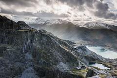 On The Edge (Photo Lab by Ross Farnham) Tags: light wales clouds nikon bleak slate snowdonia shards quarry f28 d800 2470mm