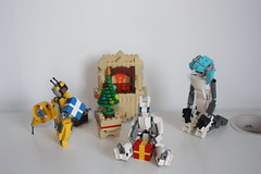 Merry Xmas 2015 !(13) (Loysnuva) Tags: christmas xmas tree fireplace lego system mecha mocs moc loys nuva icya bionifigs loysnuva mihibot bizibot