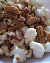 "All that shoveling made me hungry, so I had an early lunch and am moving right on to a snack! It's time for a bit of popcorn with a few Wheat Nuts thrown in for good measure. I earned it!  #1840farm #food #snack #nutfree #peanutfree • <a style=""font-size:0.8em;"" href=""http://www.flickr.com/photos/54958436@N05/23990642169/"" target=""_blank"">View on Flickr</a>"