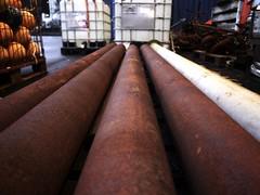 Pipes (eirikj) Tags: norway canon harbor bergen g1x instituteofmarineresearch nykirkekaien