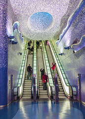 Toledo (Naples Metro) (Fil.ippo) Tags: station underground leaf metro publicbuilding toledo napoli naples metropolitana filippo sigma1020 d7000 filippobianchi