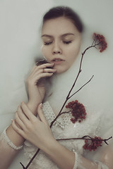 Alyona (ivankopchenov) Tags: portrait white water girl beautiful milk mood fineart indoor