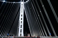 Oakland Bay Bridge by night (thomasalsen) Tags: sanfrancisco california road bridge cars night sony vehicle oaklandbaybridge nex6 selp1650