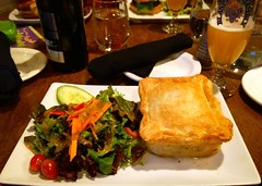Tourtiere at Les Voyageurs (Ruth and Dave) Tags: food dinner pie restaurant salad dish canadian meal sunpeaks tourtiere sidesalad lesvoyageurs sunpeaksresort