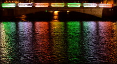 The River Liffey (Keith Mac Uidhir  (Thanks for 3m views)) Tags: city bridge blue ireland light red urban dublin orange white black color colour reflection green art water colors yellow night river rouge lights rainbow colorful noir colours purple nightshot vert irland liffey colourful blanc dublino irlanda irlande ierland jeune irlandia