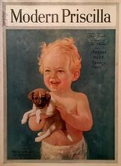 """We're Bofe Goin' In Swimmin' "" (poor little puppy!) (saltycotton) Tags: 1920s dog baby animals vintage magazine puppy children toddler ad diaper advertisement 1923 modernpriscilla"