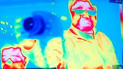 Ian & Tim (Ian Muttoo) Tags: toronto ontario canada ian tim gimp sp rom royalontariomuseum fridaynightlive ufraw thermalcamera fnlrom dsc53161edit