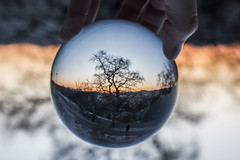 The world in a crystalball (ninaskaret) Tags: winter cold norway trondheim crystalball arendal