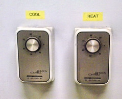 Decisions, Decisions (Eyellgeteven) Tags: 2 two strange wall weird cool control dial controls heat unusual temperature thermometer dual wtf furnace ac controller heating thermostat dials hvac cooling airconditioning climatecontrol thermometers climatecontrols johnsoncontrolsinc johnsoncontrols heatingcooling eyellgeteven