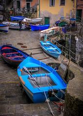 Cinque Terre Boats (Joe Szalay) Tags: italy rain boats cinqueterre riomaggiore 2013