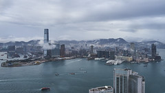 cloudy winter day two (marc_post) Tags: city skyline hongkong cloudy harbour highrise avianview