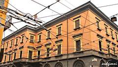 filobus 1 (archgionni) Tags: windows sky italy colors yellow architecture buildings italia giallo cielo modena colori architettura arcs archi filobus finestre