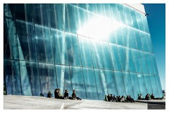 Sun tanning at the Opera (Torbjrn Tiller) Tags: oslo norway architecture norge opera tanning osloopera norwegianopera