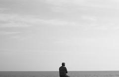 bogatell7 (Aleliade) Tags: sea sky man mar cielo hombre contemplation contemplacin