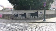 Move B****  Porto Graffity / Streetart 5 (rocknrolltheke) Tags: urban cats streetart portugal wall graffiti graffity porto katzen oporto mauer 21365