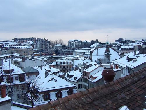 Visite de Lausanne sous la neige