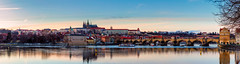 Panoramic view of Prague castle (Czech: Prazsky hrad) and Charles Bridge (Czech: Karluv Most), Prague, Czech Republic (pautliubomir) Tags: old city travel bridge sky urban color building tower castle history tourism church water statue stone architecture river landscape outdoors town europe european cityscape republic exterior view place czech prague traditional famous capital gothic scenic culture style charles praha landmark scene tourist medieval historic eastern bohemia vltava hrad destinations prazsky