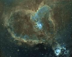 IC1805 The Heart Nebula (Faron Dillon) Tags: heartnebula astronomy sky night stars astrophotography narrowband imaging ic1805 tmb92ss starlightxpress
