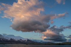 Icelandic sky (Michel Couprie) Tags: sunset sea sky mountain snow clouds composition canon eos iceland reykjavik 7d michel couprie