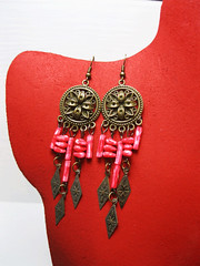 ER1(1) (KapomCrafts) Tags: beads wire earrings dangling jewerly